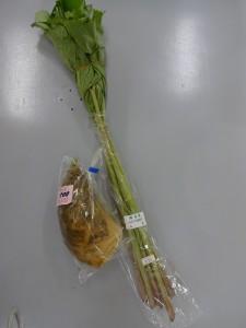 蕗(ふき)・タケノコ (レシピつき)